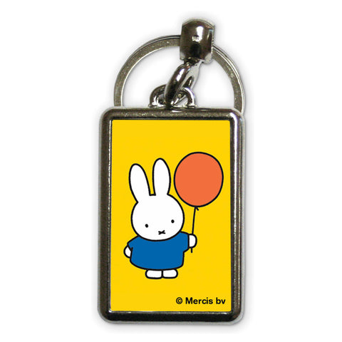 Miffy Holding a Balloon Metal Keyring