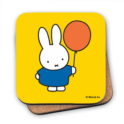 Miffy Holding a Balloon Cork Coaster