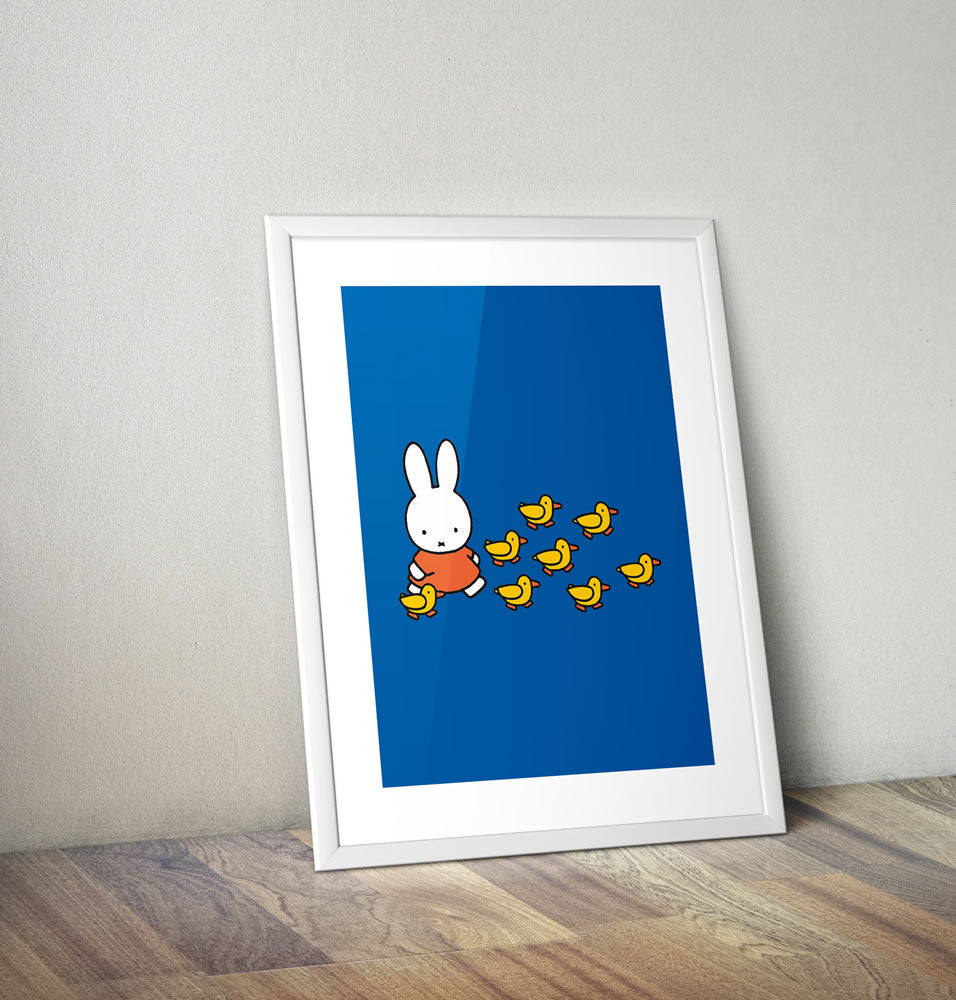 Miffy Walking with Ducks Framed Mini Poster Framed Mini Poster