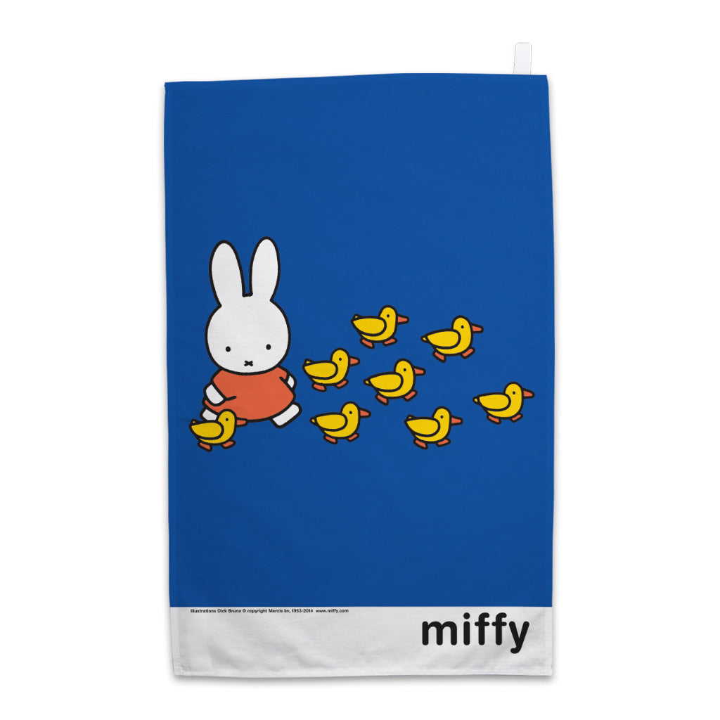 Miffy Walking with Ducks Tea Towel