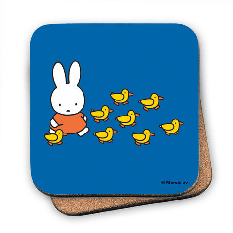 Miffy Walking with Ducks Cork Coaster