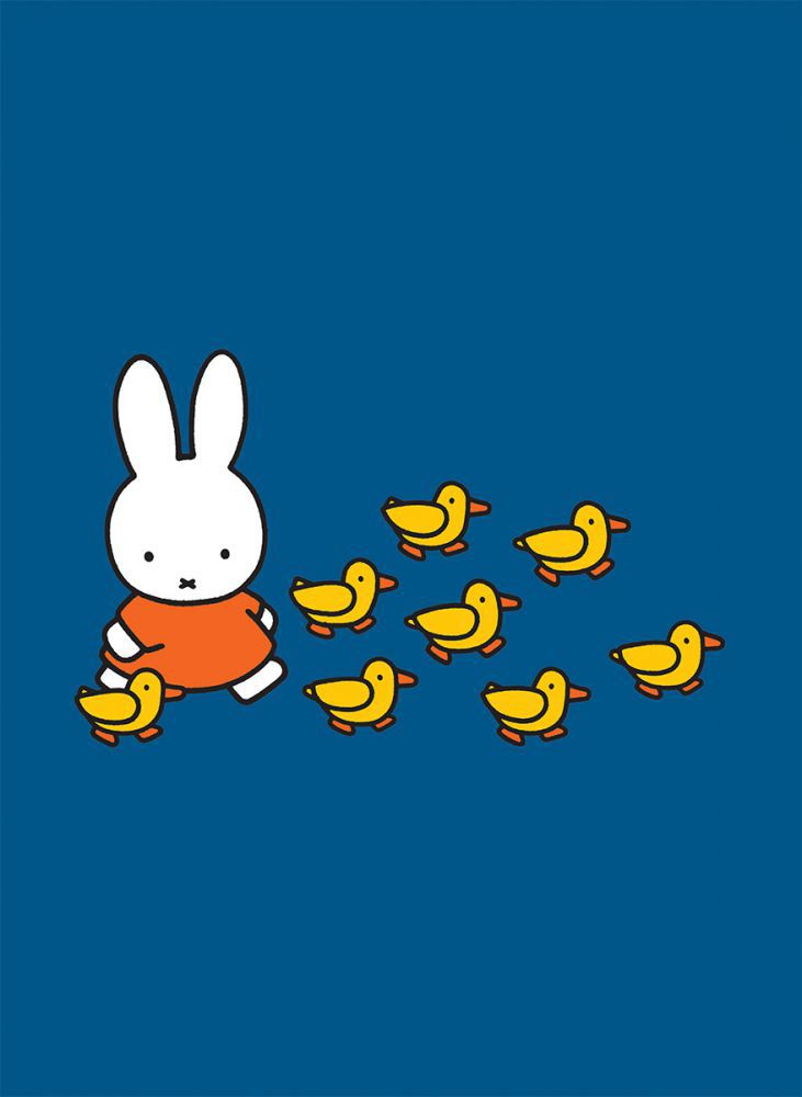 Miffy Walking with Ducks Mini Poster Mini Poster