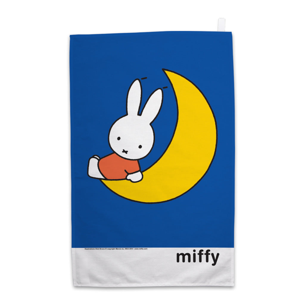Miffy Sat on the Moon Tea Towel