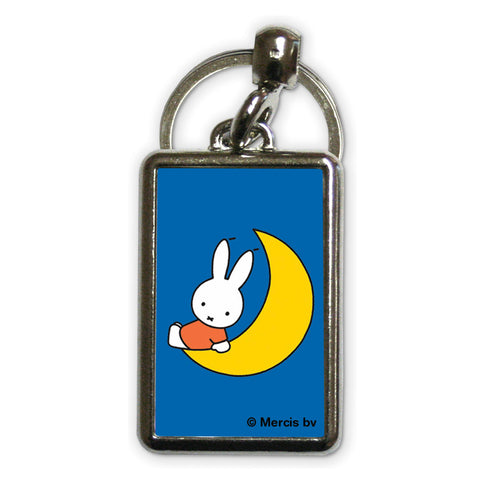 Miffy Sat on the Moon Metal Keyring