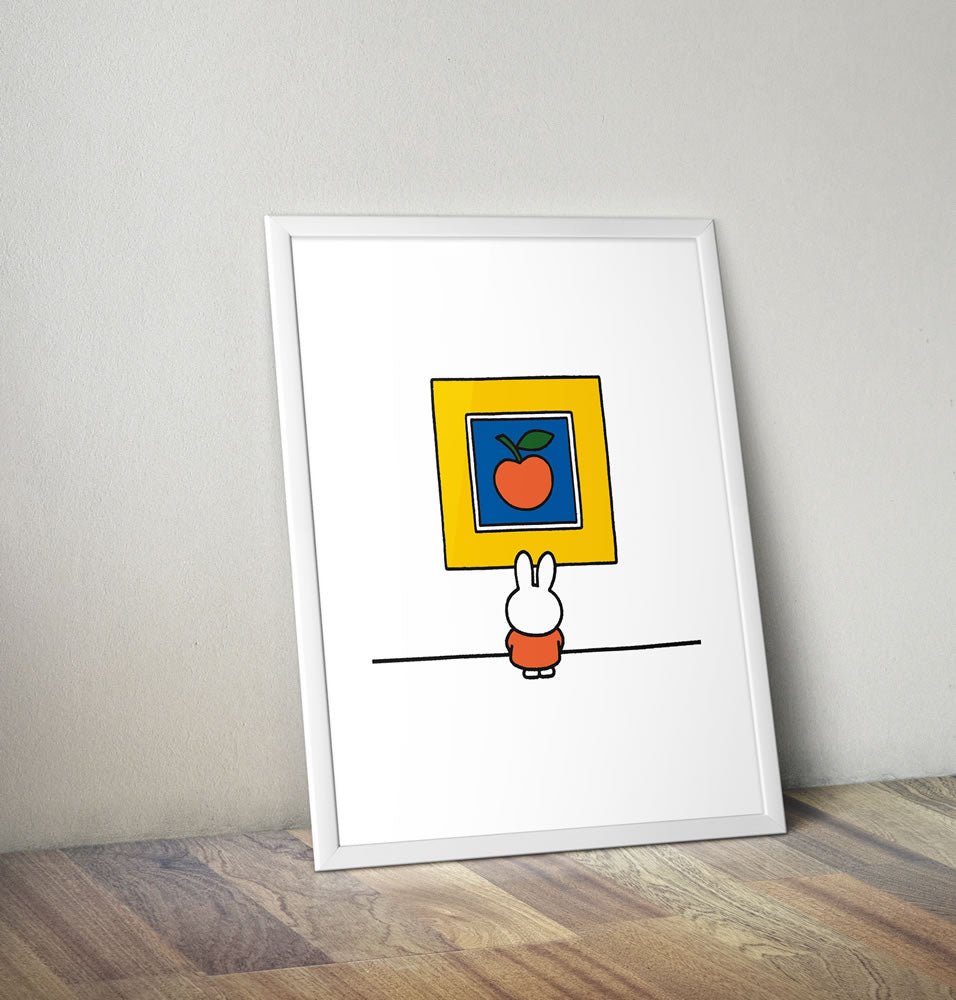 Miffy at an Art Gallery Framed Mini Poster Framed Mini Poster
