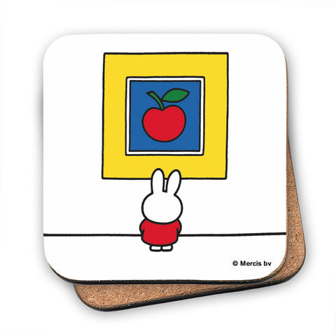 Miffy at an Art Gallery Cork Coaster