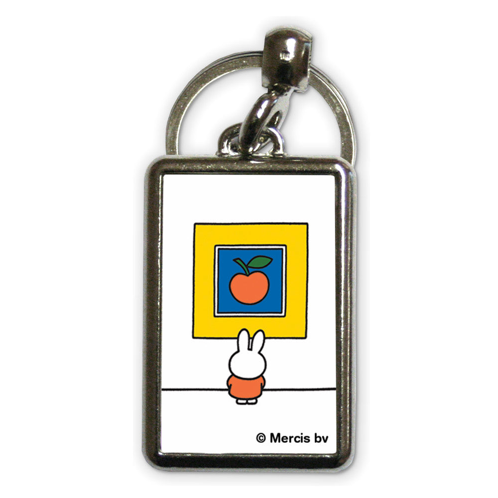 Miffy at an Art Gallery Metal Keyring