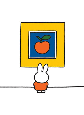 Miffy at an Art Gallery Mini Poster Mini Poster