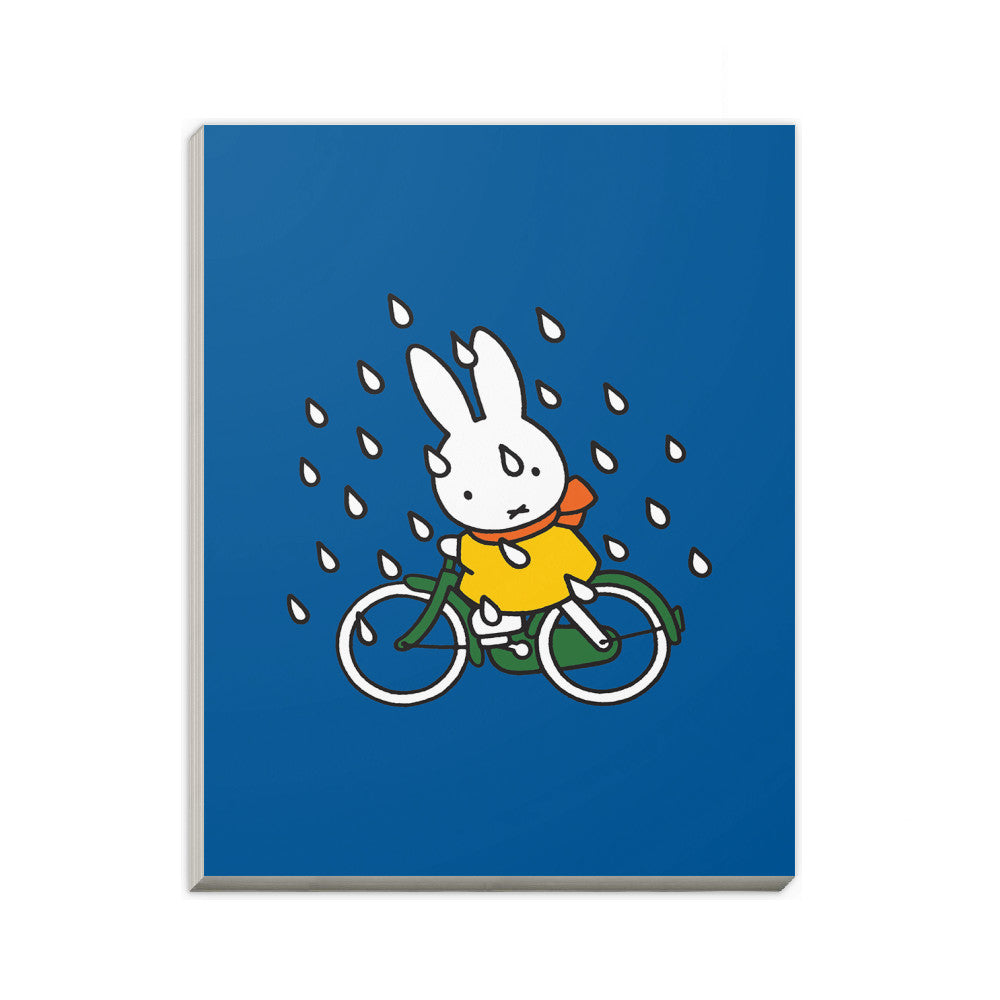 Miffy on Her Bike in the Rain A6 Notepad