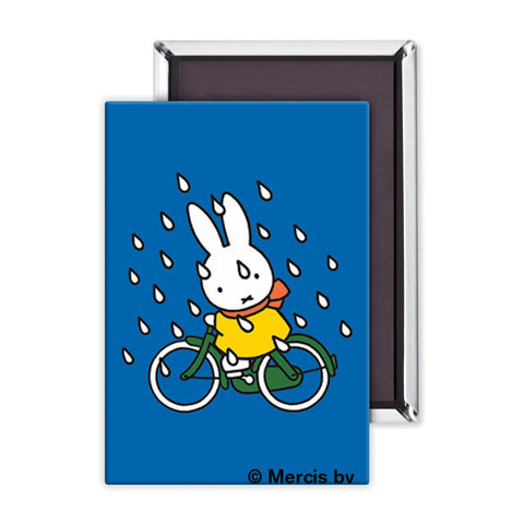 Miffy on Her Bike in the Rain Magnet
