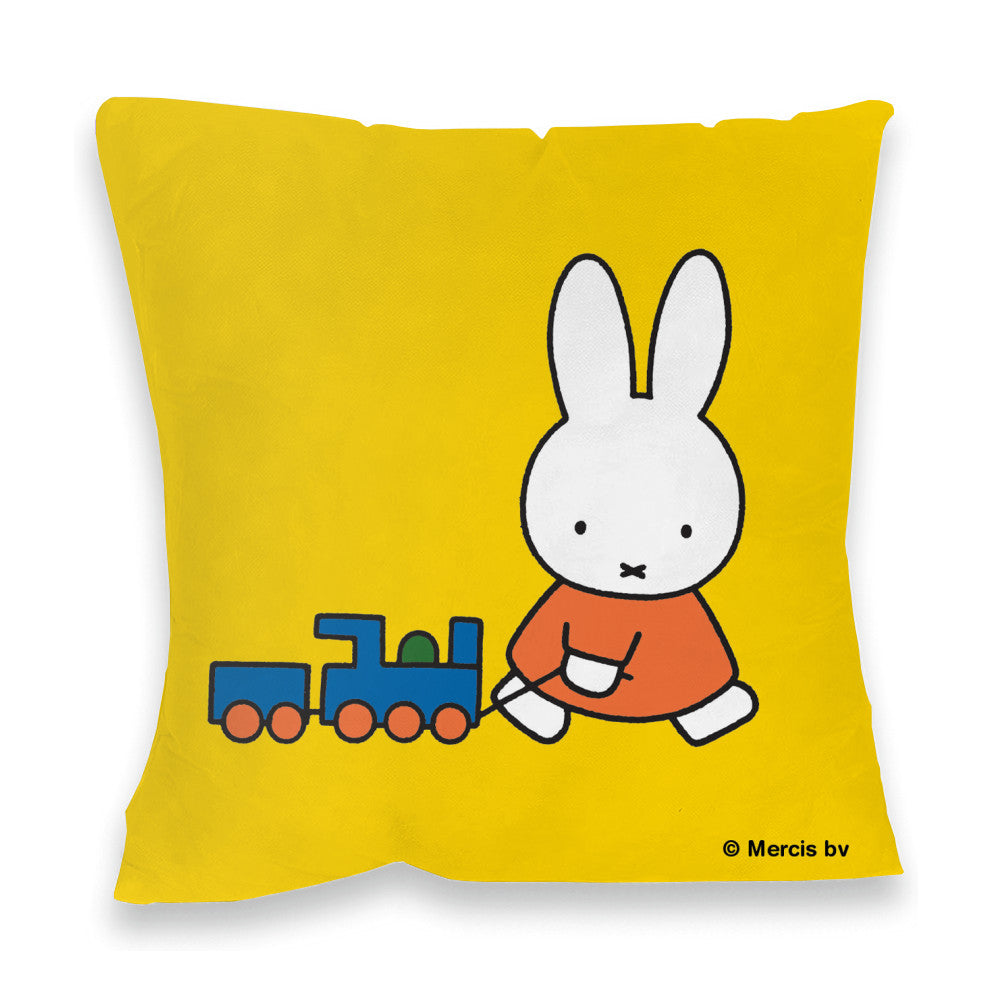 Miffy Pulling a Toy Train Cushion