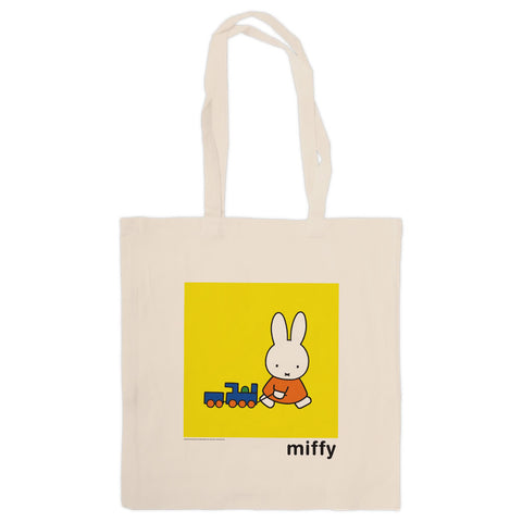 Miffy Pulling a Toy Train Tote Bag