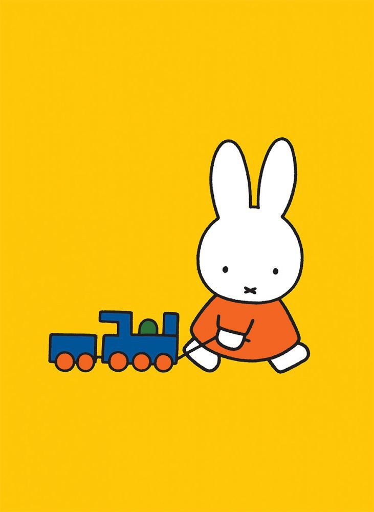 Miffy Pulling a Toy Train Mini Poster Mini Poster