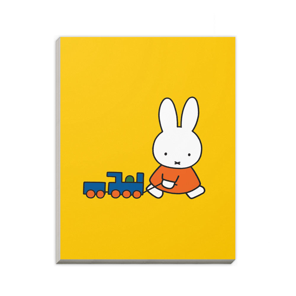Miffy Pulling a Toy Train A6 Notepad
