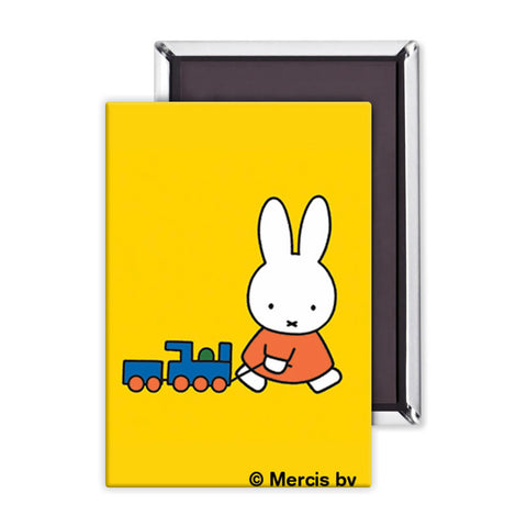 Miffy Pulling a Toy Train Magnet