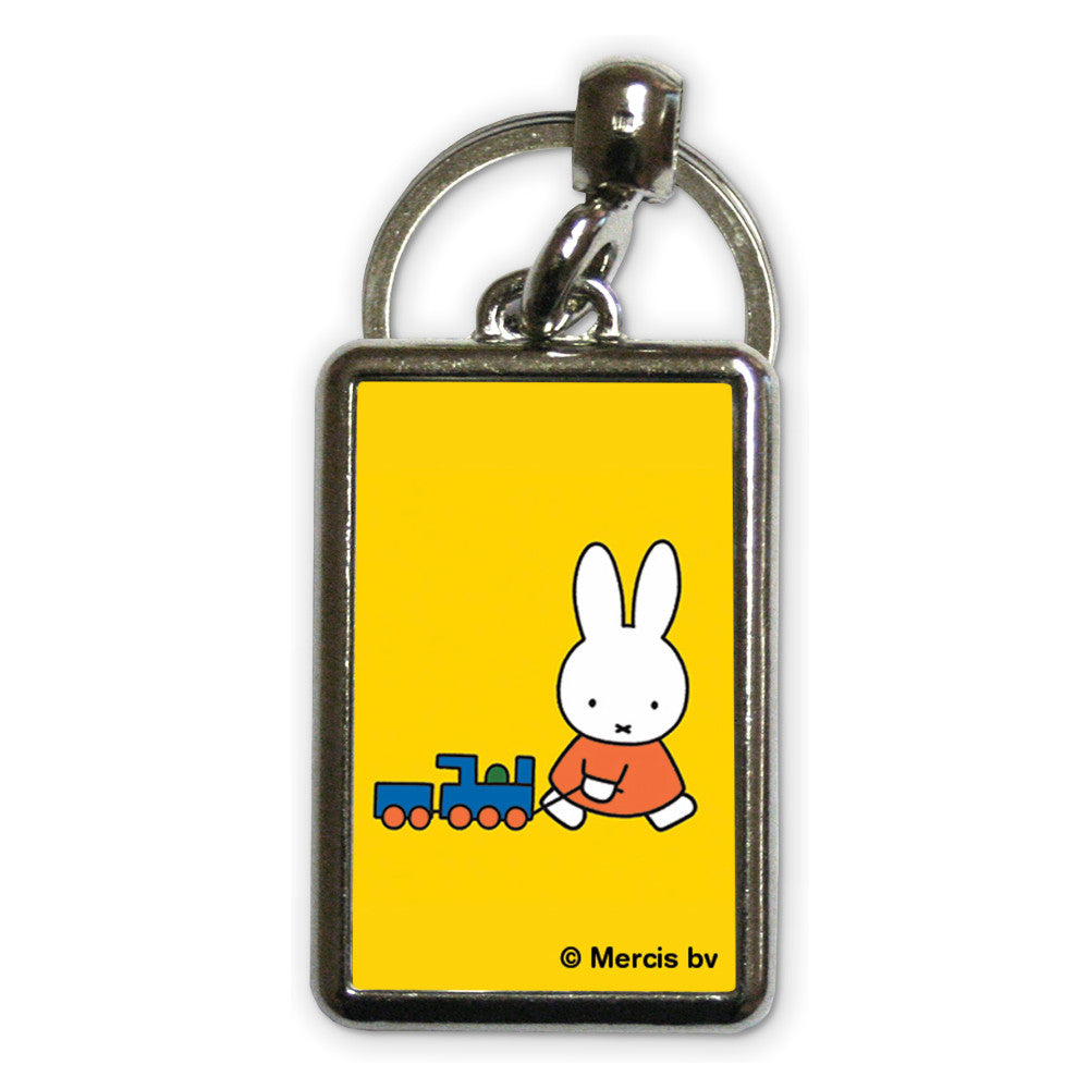 Miffy Pulling a Toy Train Metal Keyring