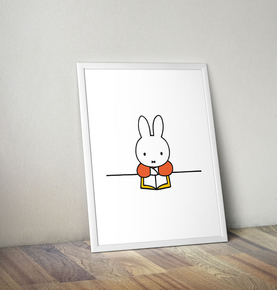 Miffy Reading a Book Framed Mini Poster Framed Mini Poster