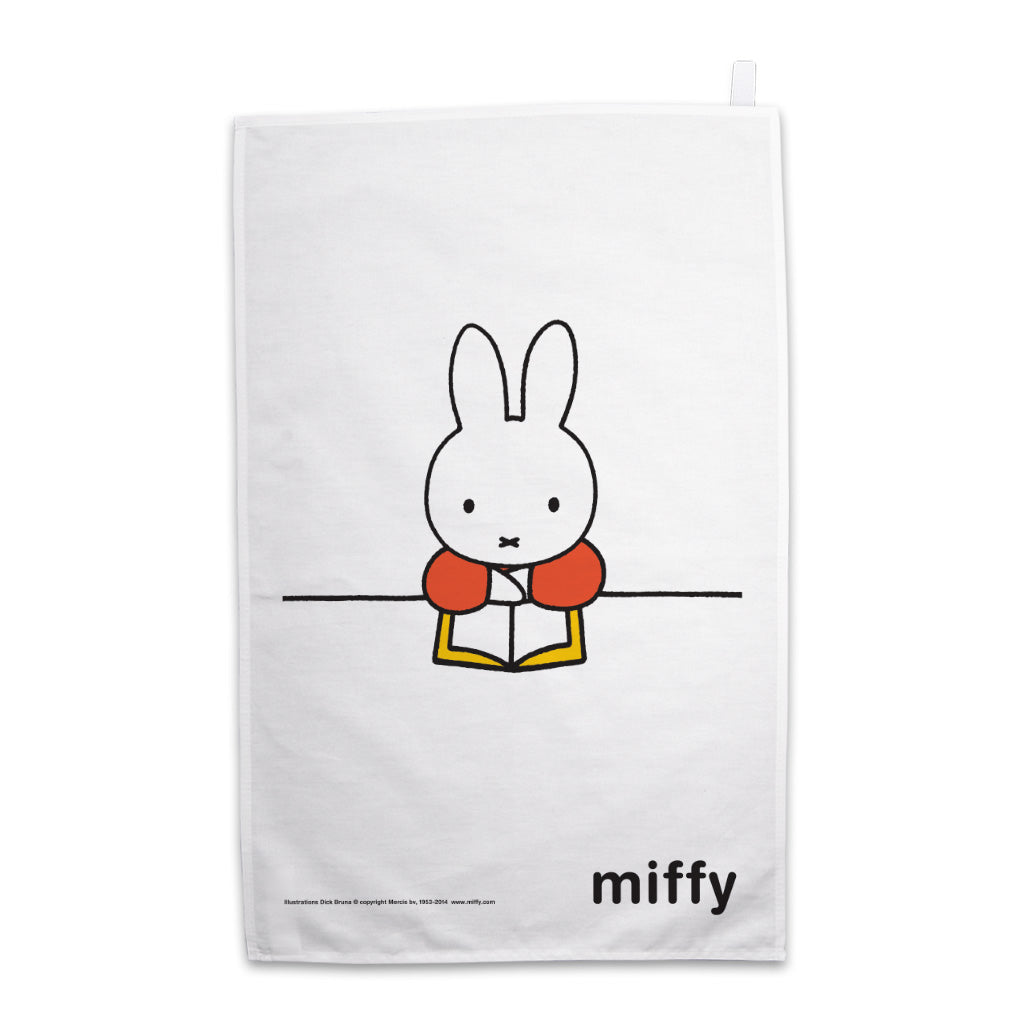 Miffy Reading a Book Tea Towel