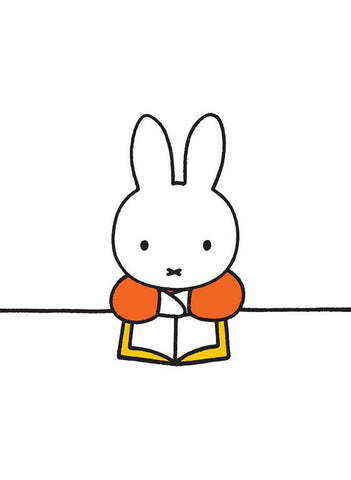 Miffy Reading a Book Mini Poster