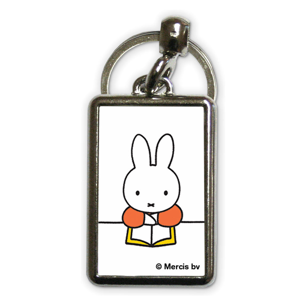 Miffy Reading a Book Metal Keyring