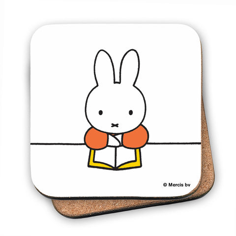 Miffy Reading a Book Cork Coaster