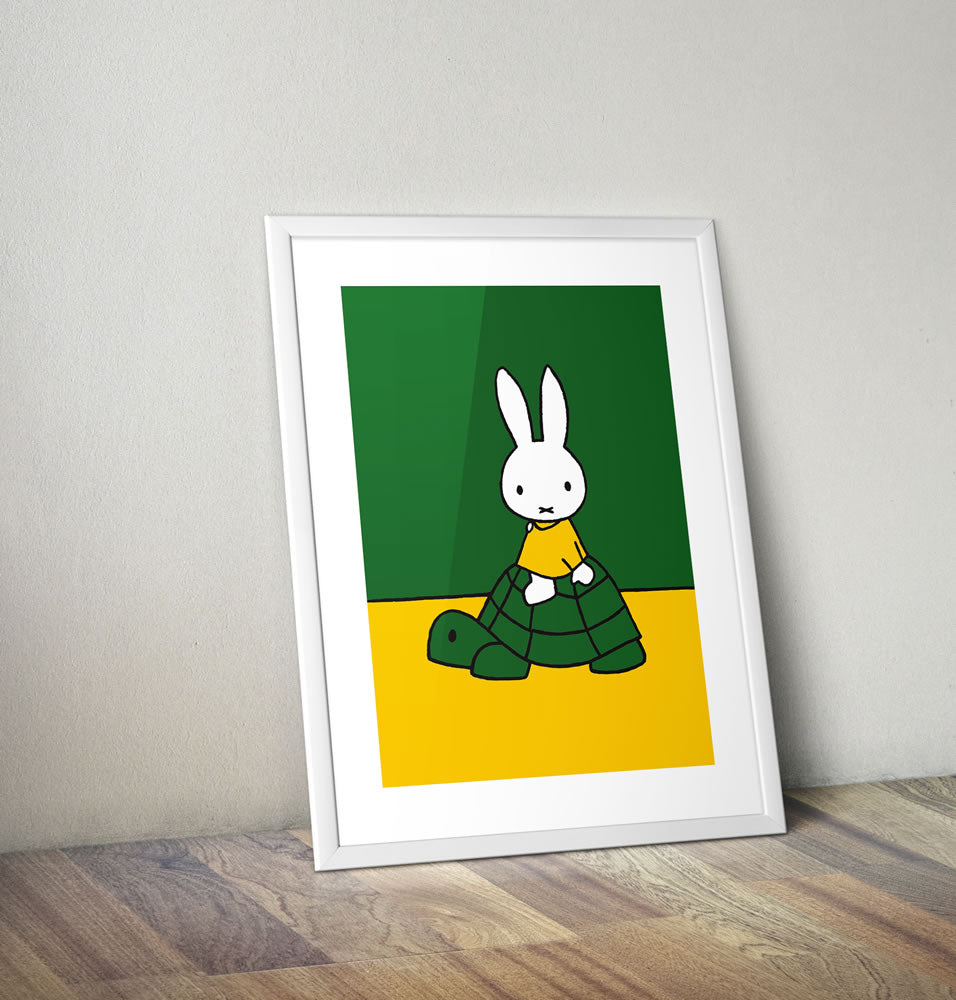 Miffy on a Tortoise Framed Mini Poster Framed Mini Poster