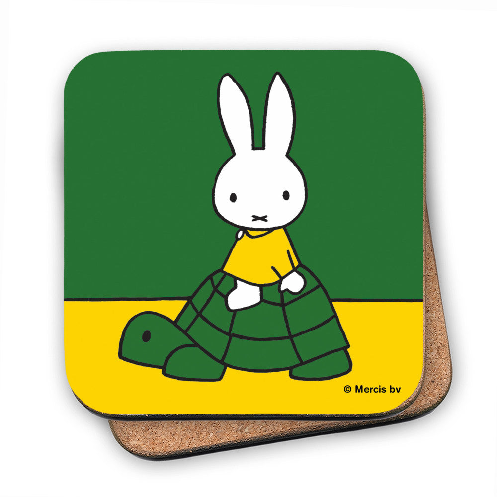 Miffy on a Tortoise Cork Coaster