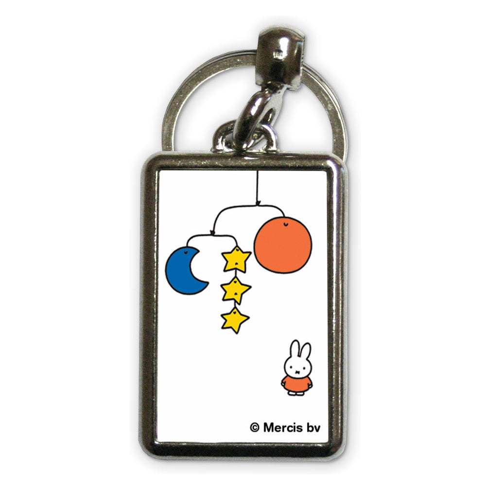 Miffy with a Planet Mobile Metal Keyring