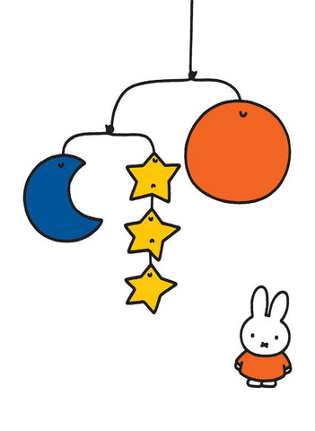 Miffy with a Planet Mobile Mini Poster Mini Poster
