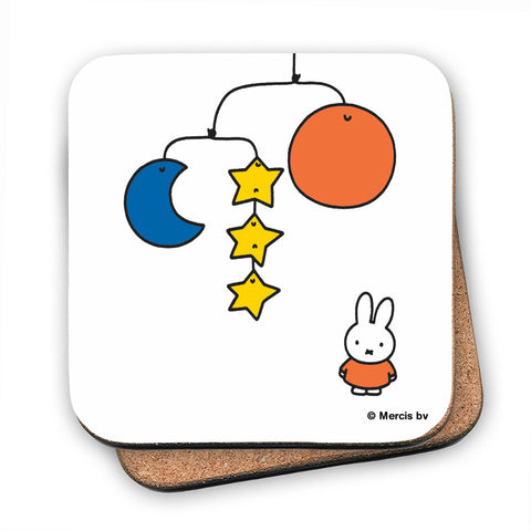 Miffy with a Planet Mobile Cork Coaster