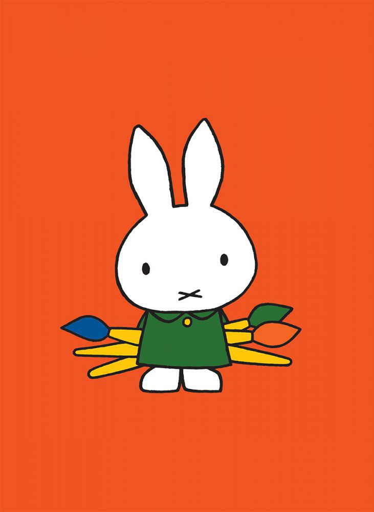 Miffy Holding Paintbrushes Mini Poster Mini Poster