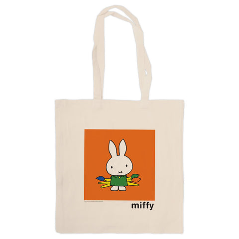 Miffy Holding Paintbrushes Tote Bag