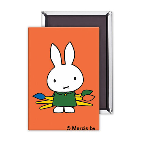Miffy Holding Paintbrushes Magnet