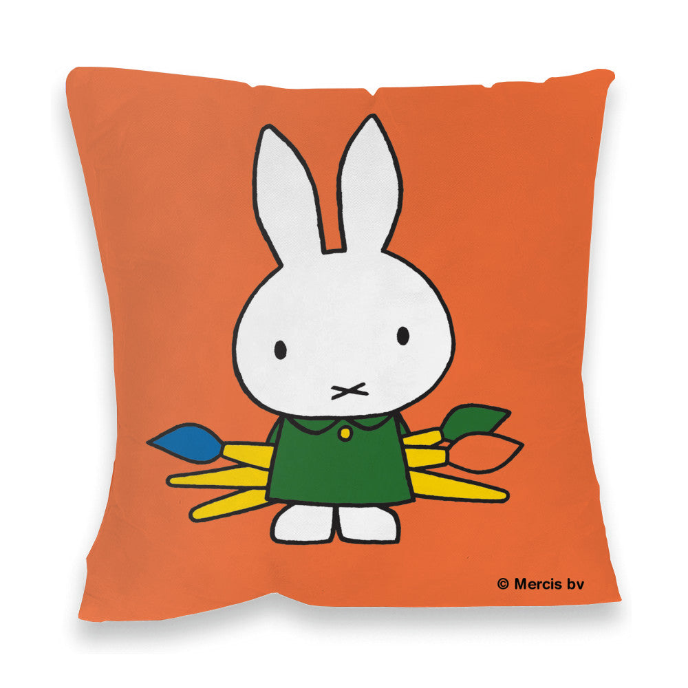 Miffy Holding Paintbrushes Cushion