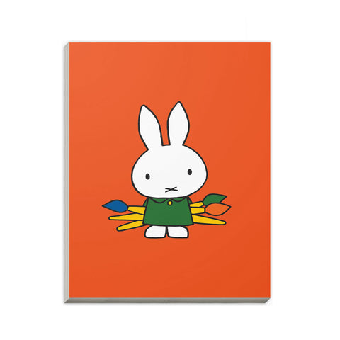 Miffy Holding Paintbrushes A6 Notepad