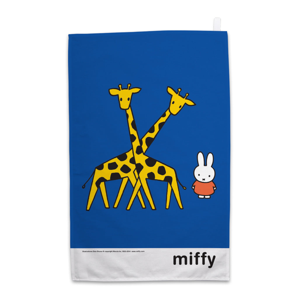 Miffy with Two Giraffes Tea Towel