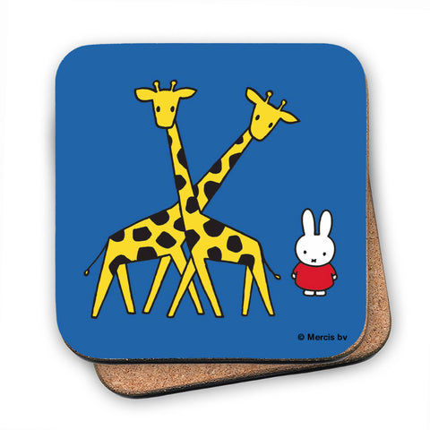 Miffy with Two Giraffes Cork Coaster