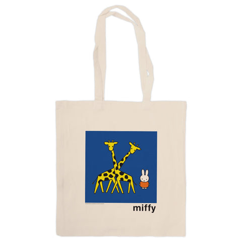 Miffy with Two Giraffes Tote Bag