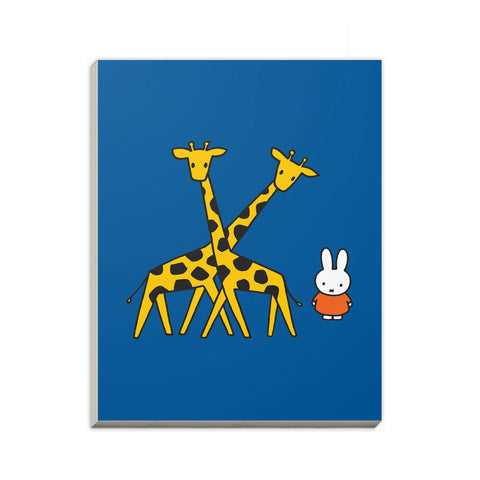Miffy with Two Giraffes A6 Notepad