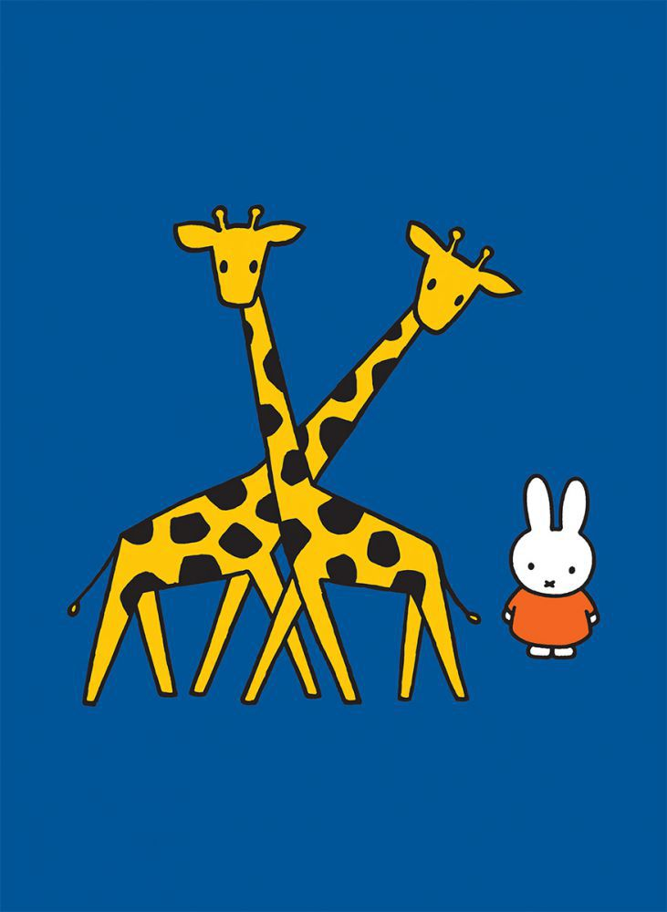 Miffy with Two Giraffes Mini Poster Mini Poster