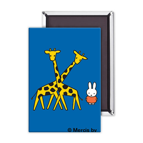 Miffy with Two Giraffes Magnet