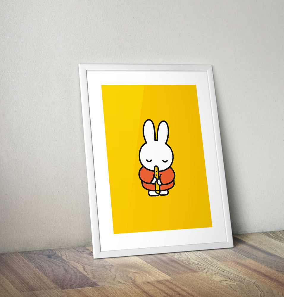 Miffy Playing the Recorder Framed Mini Poster Framed Mini Poster