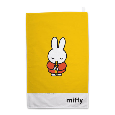 Miffy Playing the Recorder Tea Towel