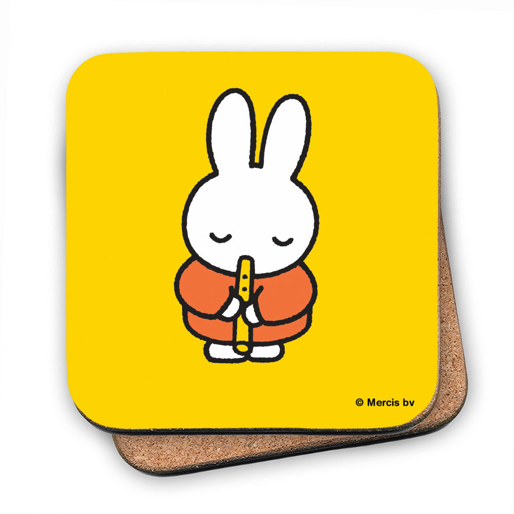 Miffy Playing the Recorder Cork Coaster