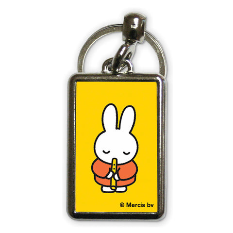 Miffy Playing the Recorder Metal Keyring