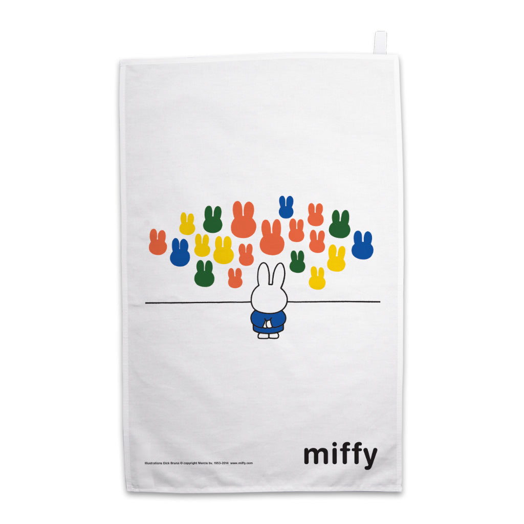Miffy at an Art Gallery Tea Towel