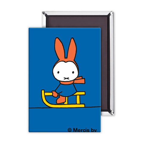 Miffy Playing on a Sleigh Magnet