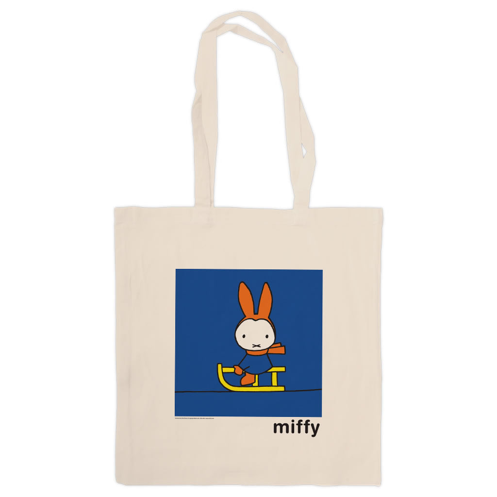 Miffy Playing on a Sleigh Tote Bag