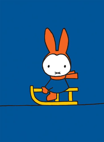Miffy Playing on a Sleigh Mini Poster Mini Poster