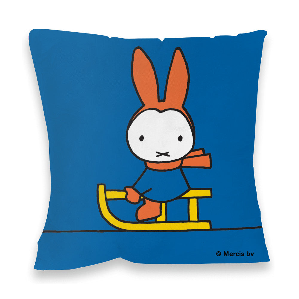 Miffy Playing on a Sleigh Cushion